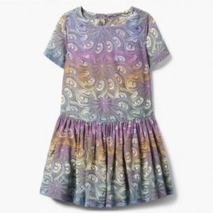 Gymboree Colorful Peacock Feather Dress NWT